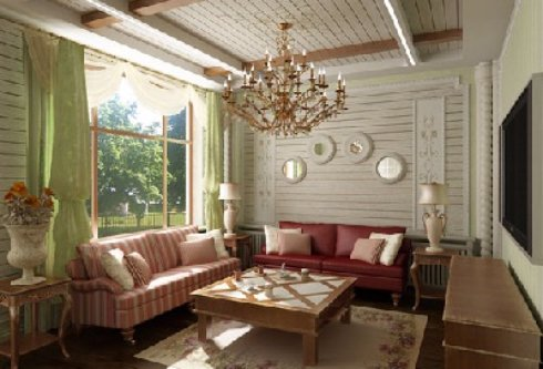 Интерьер гостиной в стиле прованс — простота и уют