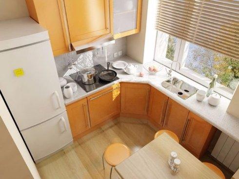 Интересные идеи для маленькой кухни