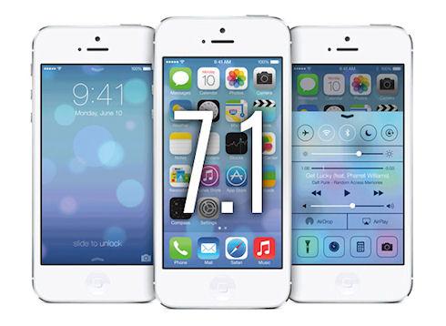 Изменения в интерфейсе после обновления beta 3 iOS 7.1