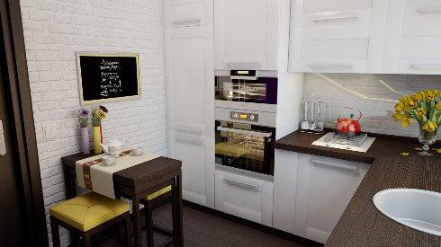 Как визуально расширить пространство маленькой кухни