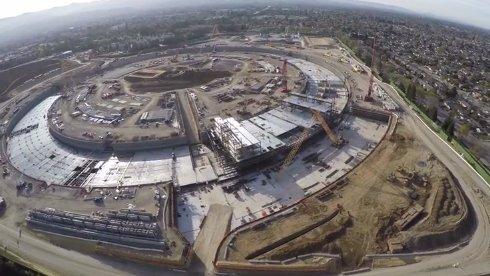 «Космическую штаб-квартиру» Apple сняли с помощью дрона