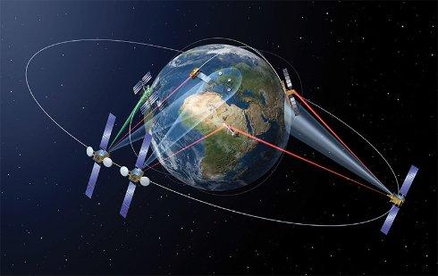 Лазер помог AIRBUS передать данные между спутниками