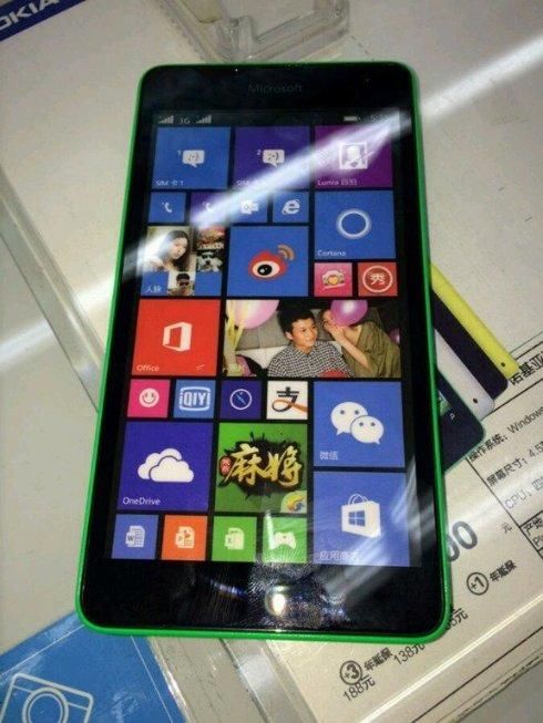 В сеть просочились изображения Microsoft Lumia 535