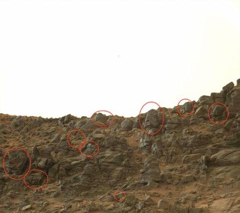 На Марсе обнаружили 9 наскальных «лиц» (ФОТО)