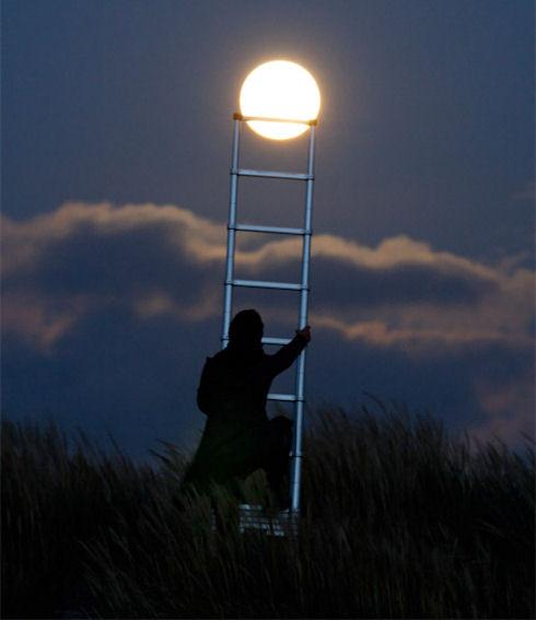 Необычные фотографии Луны