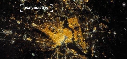 Космонавта МКС показал как выглядят ночные города из космоса (ФОТО)