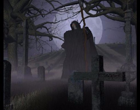 Ночью на кладбище