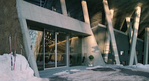 Норвежские архитекторы построили пентхаус в трамплине