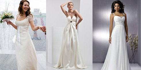 Выбор платья и обуви для беременной невесты