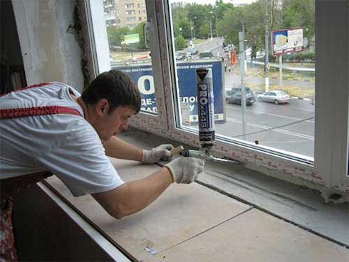 Ошибки при монтаже окна