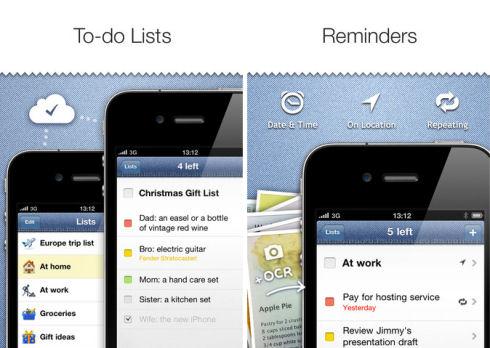 Pocket Lists для iPhone