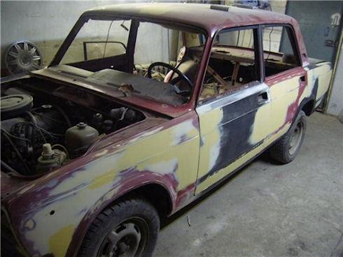 Подготовка кузова автомобиля к нанесению шпаклевки