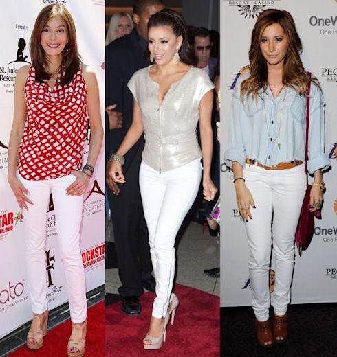 Как подобрать и носить белые джинсы?