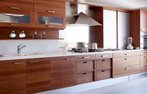 Необычные покрытия для кухонных фасадов