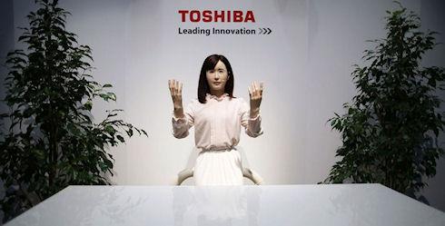 Презентация «умных» очков и женщины-андроида от Toshiba