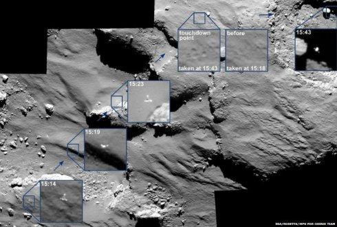 В сеть выложили высококачественные снимки прикомечивания робота Philae