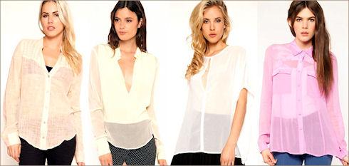 Прозрачная женская рубашка