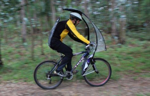 Разработан зонтик для велосипеда LeafxPro