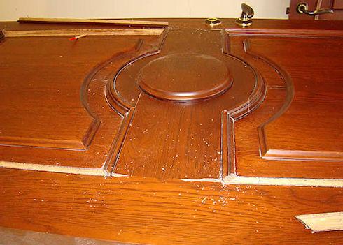 Реставрация межкомнатной двери шпоном