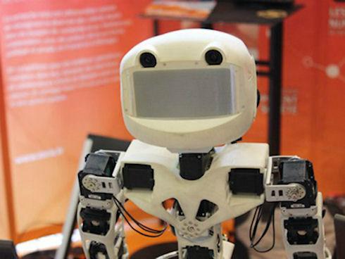 Напечатанный на 3D-принтере робот-андроид для самостоятельной сборки