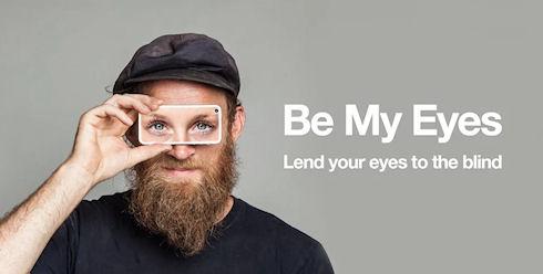 Слепые люди смогут видеть благодаря приложению Be My Eyes