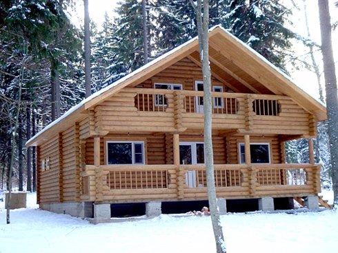 Советы по возведению постройки из дерева зимой