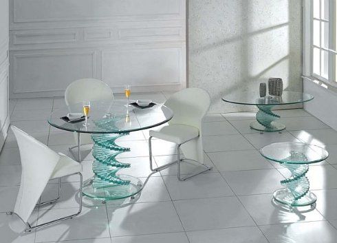 Стеклянная мебель NABUCCO в оформлении интерьера