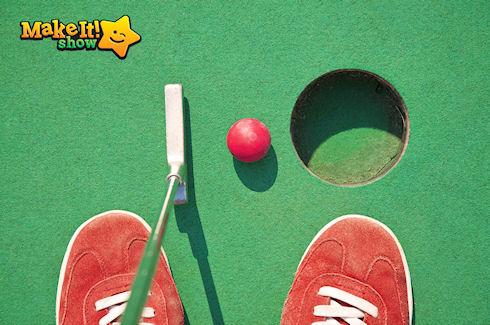 Сыграйте в мини-гольф  на большой площадке фестиваля  Make it! Show!