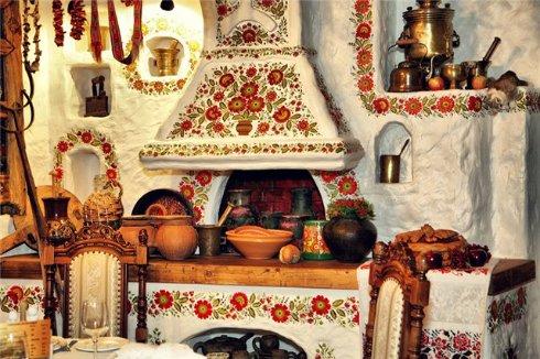 Украинский этно-стиль в оформлении кухни