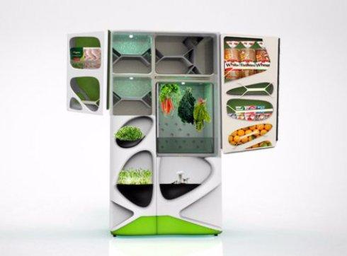 Уникальный холодильник сам выращивает продукты