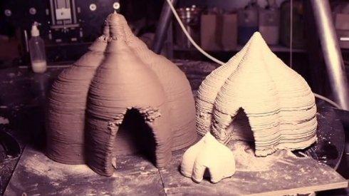 В Италии строят дома из грязи при помощи 3D-принтера