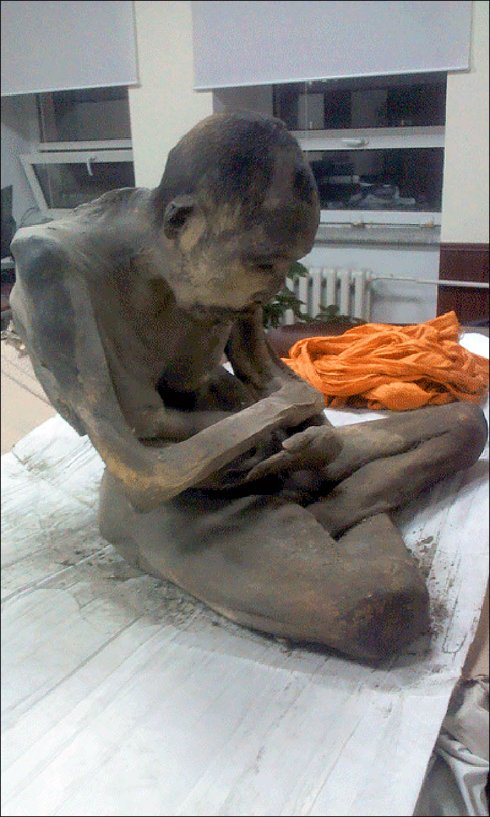 В Монголии найдена 200-летняя мумия медитирующего монаха