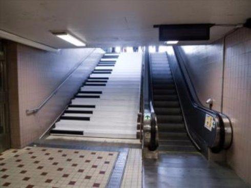 В Швеции появилась музыкальная лестница-пианино