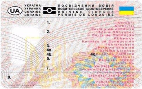 В украинских водительских правах введут две новые категории