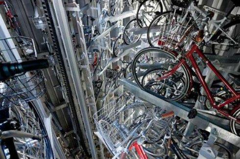 В Японии «роботизировали» подземную велосипедную парковку