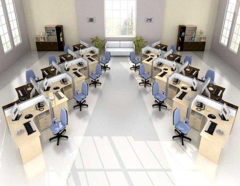 Выбор и расстановка офисной мебели