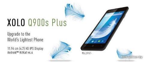 Q900s Plus — самый лёгкий телефон от Xolo