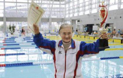 Японка доказала, что рекорды можно устанавливать и в 100 лет