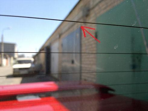 Замена обогрева заднего стекла