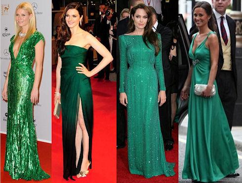 Зеленое платье: подбираем аксессуары