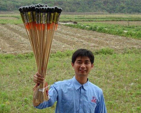 Житель Китая изобрёл «экологичный фейерверк»